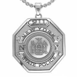 Personalized New York State Trooper Badge w  Your Number
