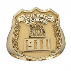 New York Personalized Police Ring w  Badge Number   Department