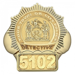 New York Personalized Detective Badge Ring w  Number   Department