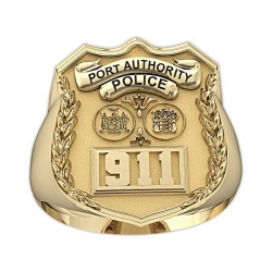 NY NJ Personalized Port Authority Police Badge Ring w  Department