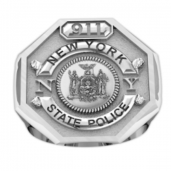 New York Personalized State Trooper Ring w  Badge Number   Department