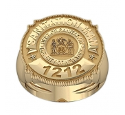 Personalized Sanitation Badge w  Number  Department    Rank