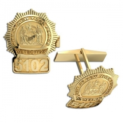 Personalized New York Detective Badge Cuff Links w  Your Number   Department