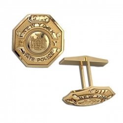 Personalized New York State Trooper Badge Cuff Links w  Your Number