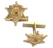 Personalized Sheriff Badge Cuff Links with Number  Rank   Dept