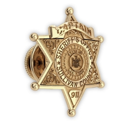 Personalized County Sheriff Badge Tie Tac w  Number  Rank   Dept