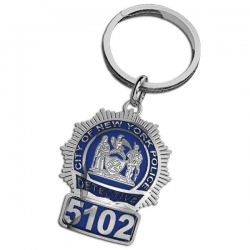 Personalized Detective Enamel Badge Keychain w  Your Number   Department