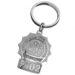 Personalized Detective Badge Keychain w  Your Number   Department