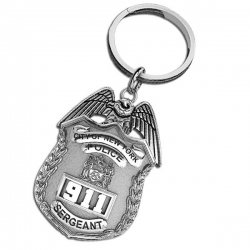 Personalized Sergeant Badge Keychain w  Your Number   Department