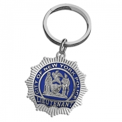 Personalized Lieutenant Enamel Badge Keychain w  Your Number   Department