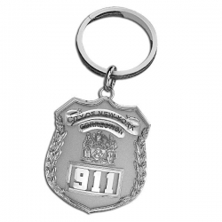 Personalized Correction s Officer Badge Keychain w  Your Number   Department