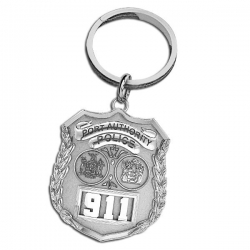 NY NJ Personalized Port Authority Police Badge Keychain w  Your Number
