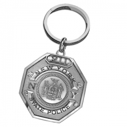 Personalized New York State Trooper Badge Keychain w  Your Number