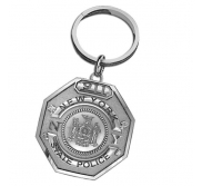 Personalized State Trooper Badge Keychain with Your Number