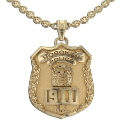 Personalized New Jersey Classic Style Police Badge w  Your Number   Department