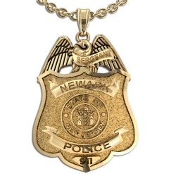 Personalized New Jersey Police Badge w  Your Number   Department