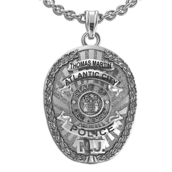 Personalized Atlantic City New Jersey Police Badge w  Your Name   Department