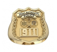 NY NJ Personalized Port Authority Police Badge Ring with Department