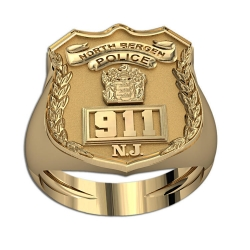 New Jersey Personalized Classic Style Police Ring w  Badge Number   Department