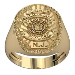 New Jersey Personalized Police Ring w  Name   Department