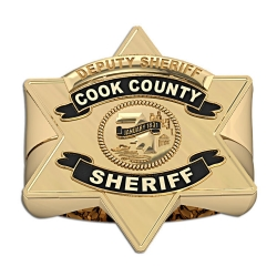 Personalized Cook County Sheriff Badge Ring with Rank