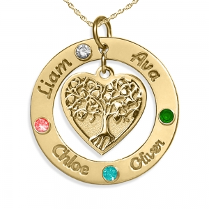 Family Tree Personalized Childrens Jewelry
