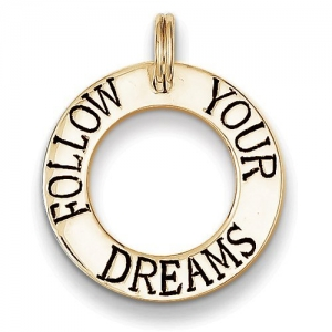 Follow Your Dreams- Round Cut-out Graduation Charm or Pendant