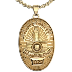 Personalized Los Angeles Police Badge with Your Rank and Number