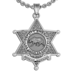 Personalized Los Angeles County Sheriff Badge w  Name and Rank