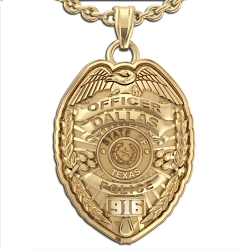 Personalized Texas Police Badge w  Your Name  Rank  Number   Department