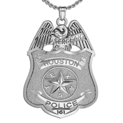 Personalized Texas Police Badge w  Your Rank  Number   Department