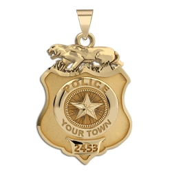 Personalized Fort Worth Police Badge w  Your Number