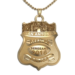 Personalized San Antonio Texas Alamo Police Badge w  Your Name  Rank  and Number
