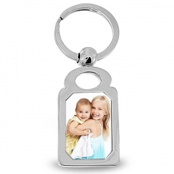 Groupon Exclusive   Stainless Steel Engravable Photo Laser Keychain