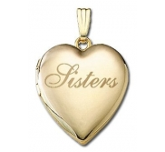 Solid 14K Yellow Gold  Sisters  Locket