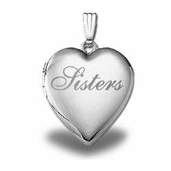 Sterling Silver   Sisters   Heart Locket