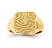 Custom Men s Fingerprint Signet Ring