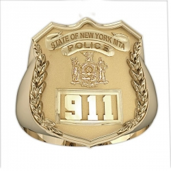 New York Personalized MTA Police Ring w  Badge Number