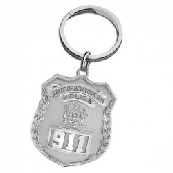 Personalized New York MTA Police Officer s Badge Keychain w  Your Number