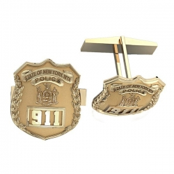 Personalized New York MTA Police Badge Cuff Links w  Your Number