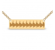 Heartbeat Rectangle Shaped Necklace w  Box Chain