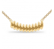 Heartbeat Outlined Shaped Necklace w  Box Chain