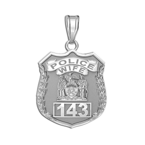 Police Wife Badge