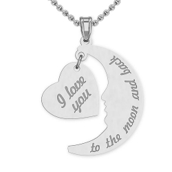 I Love You To The Moon Charms