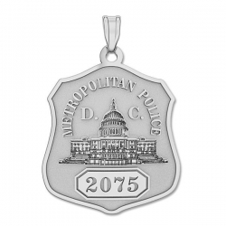 Personalized District of Columbia Police Badge w  Your Number