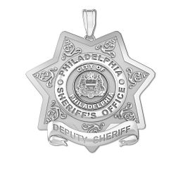 Personalized Philadelphia Sheriff s Badge w  Your Number   Rank