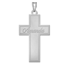 Personalized Name Cross w  18  Chain