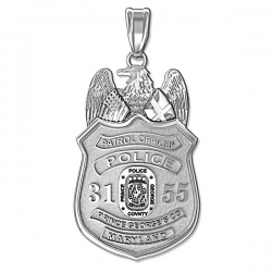 Personalized Prince George County  Maryland Police Badge w  Your Rank and Badge Number