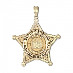 Personalized Sheriff Maryland Police Badge w  Your Department  Rank and Badge Number