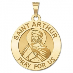 Saint Arthur Religious Medal   Oval  EXCLUSIVE